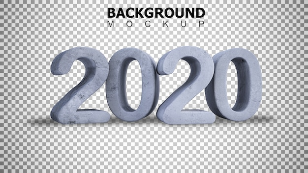 Mockup background for 3d rendering cracked concrete  text 2020 background