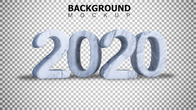 Mockup background for 3d rendering marble  text 2020 background