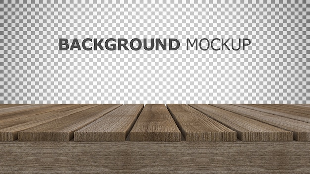 Mockup background for 3d rendering of wooden panel