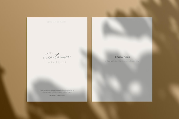 Mockup background with natural shadows shadow overlay