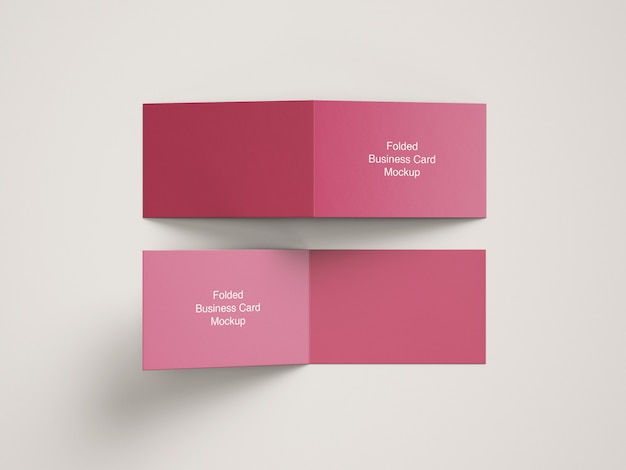 Mockup of bifolded business card
