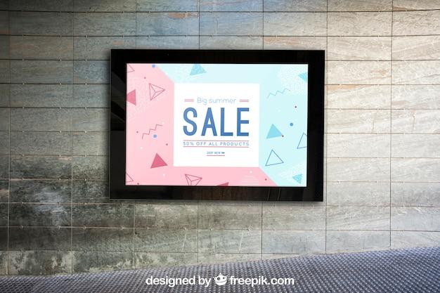 Mockup of billboard on urban wall