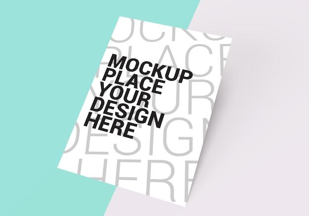 Mockup of blank paper render