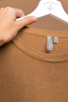 Макет блузки крупным планом