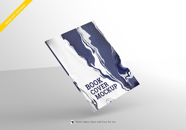 Mockup book cover, template psd