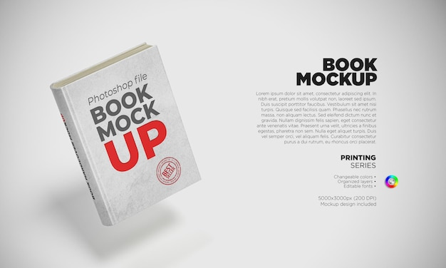 Mockup book cover for your design