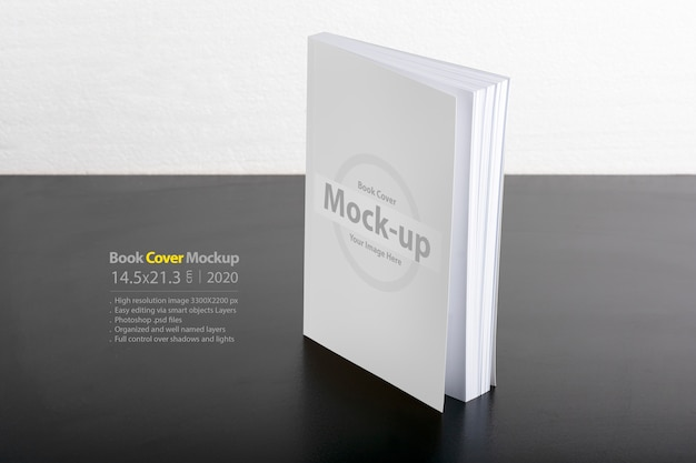 Mockup for book with blank cover