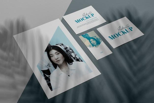 Mockup brochure shadow overlay