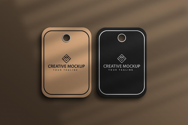 Mockup brown price sale tag mackup design