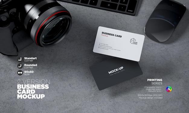 Mockup business card in 3d rendering