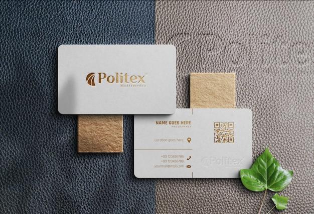 Mockup business card realistic