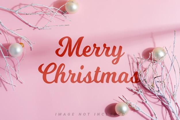 モックアップクリスマスフレーム装飾ホリデーアクセサリー。