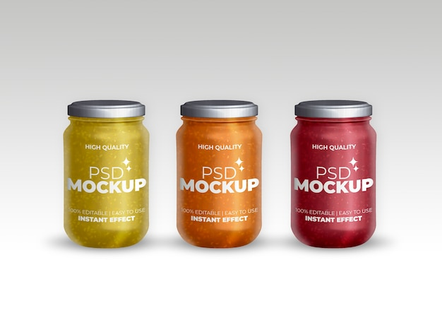 Mockup collection of jars