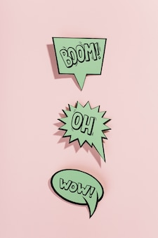 Mockup collection of speech bubbles