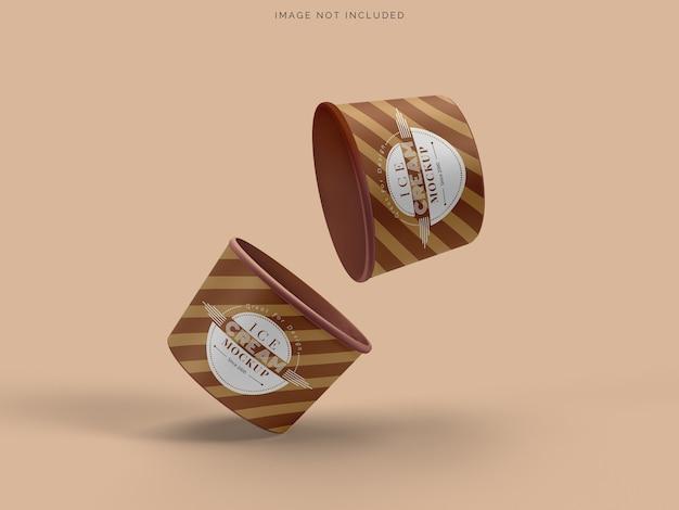아이스크림 모형 컵 아이스크림 포장 모형