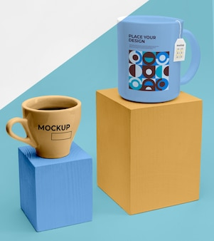 Mockup cups of tea