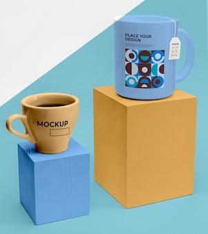 Mockup tazze di tè