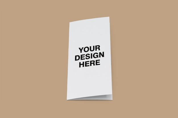 三つ折りパンフレットのモックアップデザイン