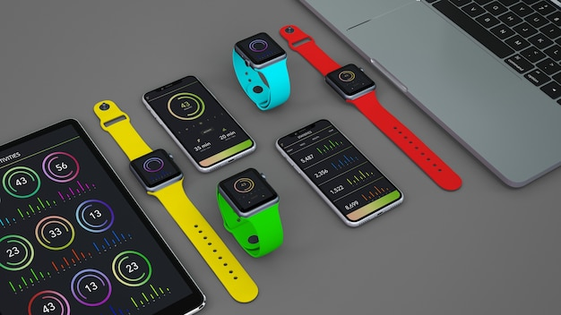 Mockup of devices