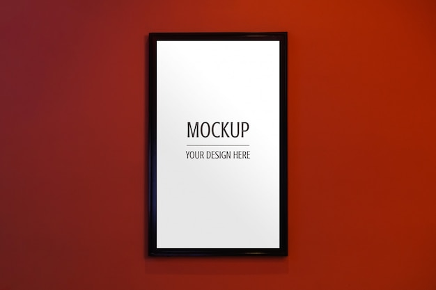 Mockup of display frame movie poster cinema light box