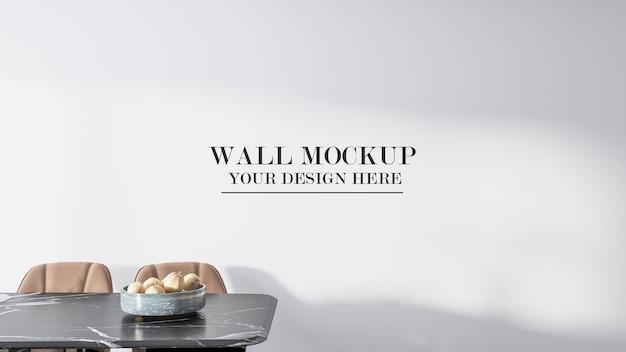 Mockup empty wall in 3d rendering