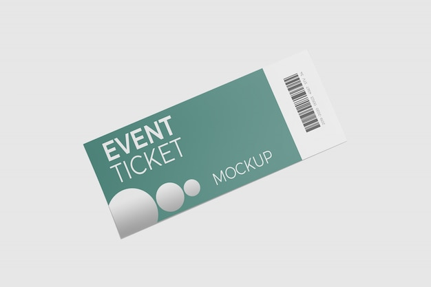 Mockup of an event ticket isolated