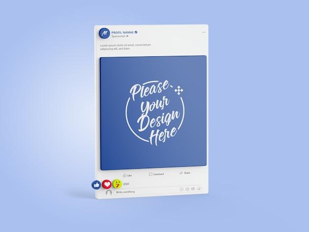 Mockup facebook social media 3d