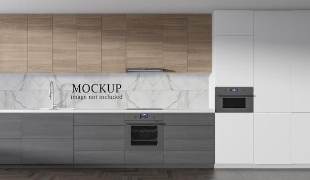 Мокап для настенной плитки для кухни