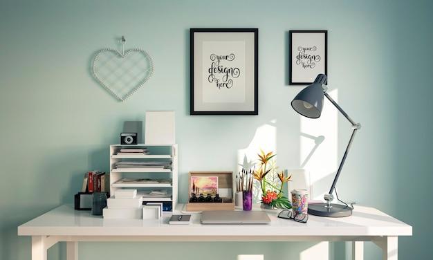 키즈 룸 인테리어의 모형 프레임 장식