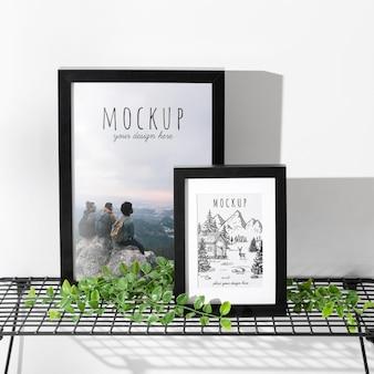 Mockup frame on table