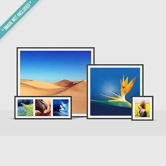 Mockup of framed photos