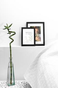 Mockup frames on wall