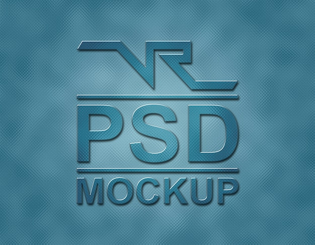Mockup glass logo with charcoal blue flash