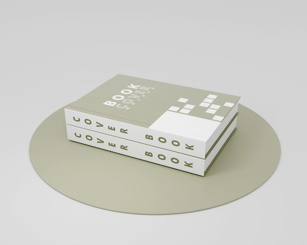 Mockup hard cover book