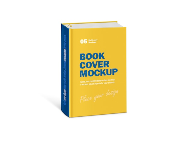 Mockup of hardcover thick vertical book