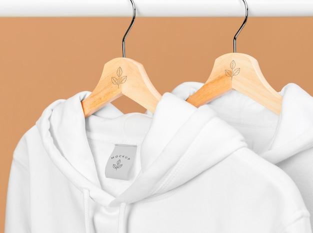 Mockup hoodie close up