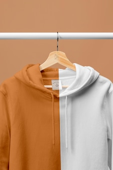 Mockup hoodie close up