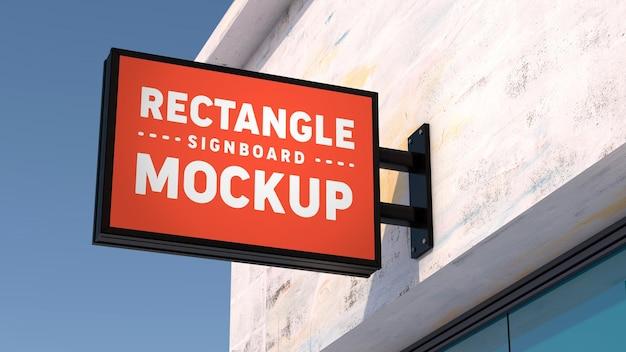 Mockup horizontal rectangle signboard