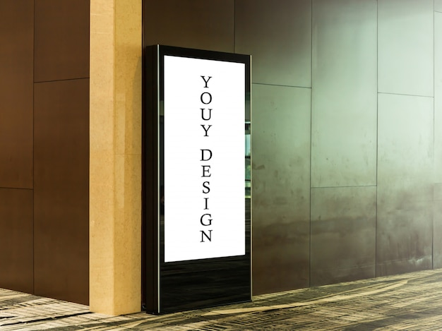 Mockup image of blank billboard posters and led in the airport terminal station