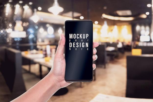 広告用のモックアップ画像携帯電話