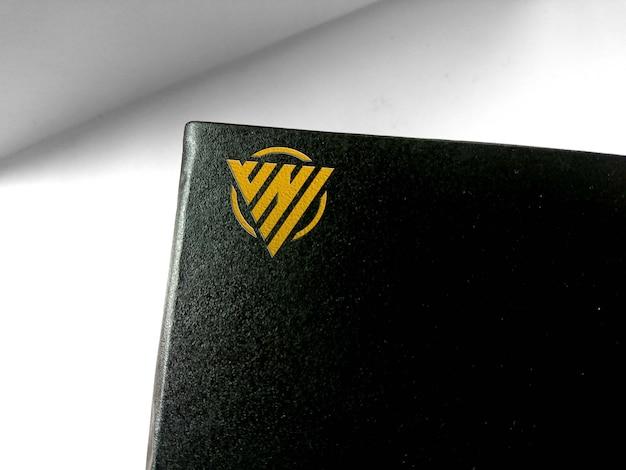 Mockup logo in the black box