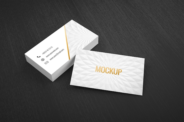 Mockup of luxury elegant modern business card