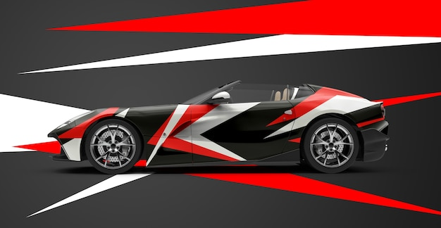 Mockup of a luxury generic sport car