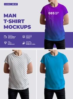 モックアップ男性tシャツのデザイン