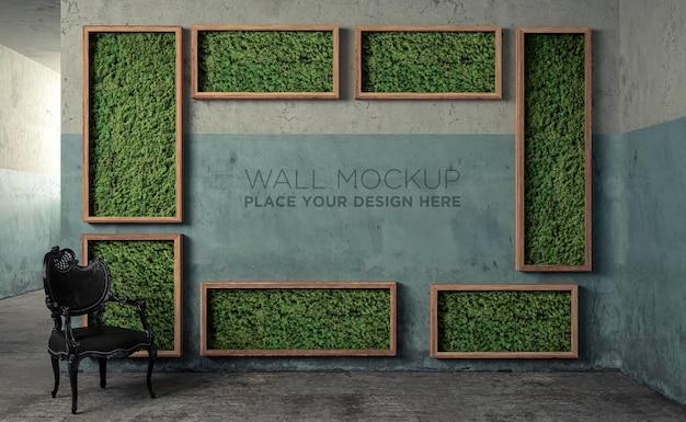 Мокап современной детской комнаты с набором стула и стола для работы и учебы, концепция дизайна интерьера, 3d визуализация