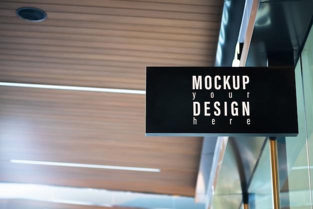 Mockup modern store signboard