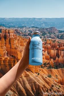 Мокап бутылки с возможностью смены фона