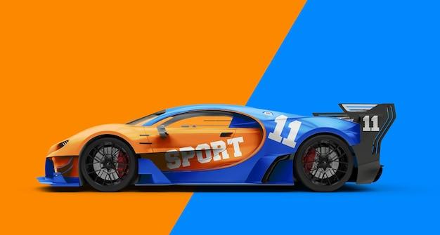 強力な高級スポーツカーのモックアップ