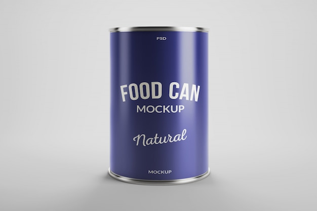 알루미늄 음식 양철 깡통 제품 포장의 모형 프리미엄 PSD 파일