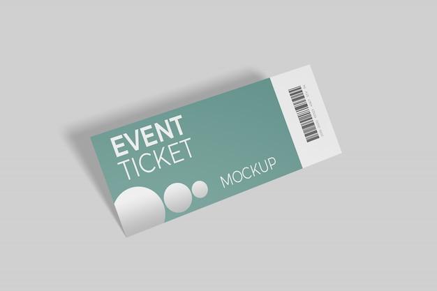Изолированный макет билета на мероприятие